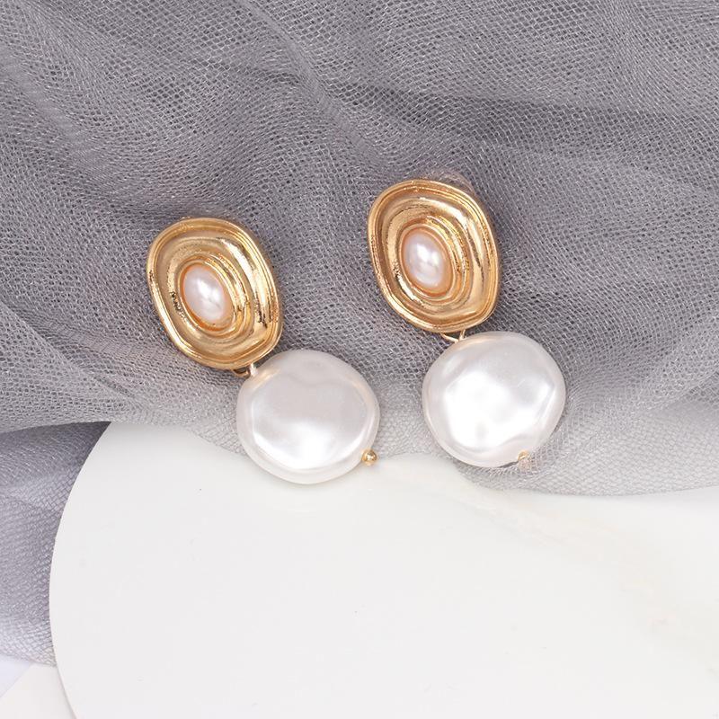 Womens teardropshaped beads alloy Earrings NHJJ121569