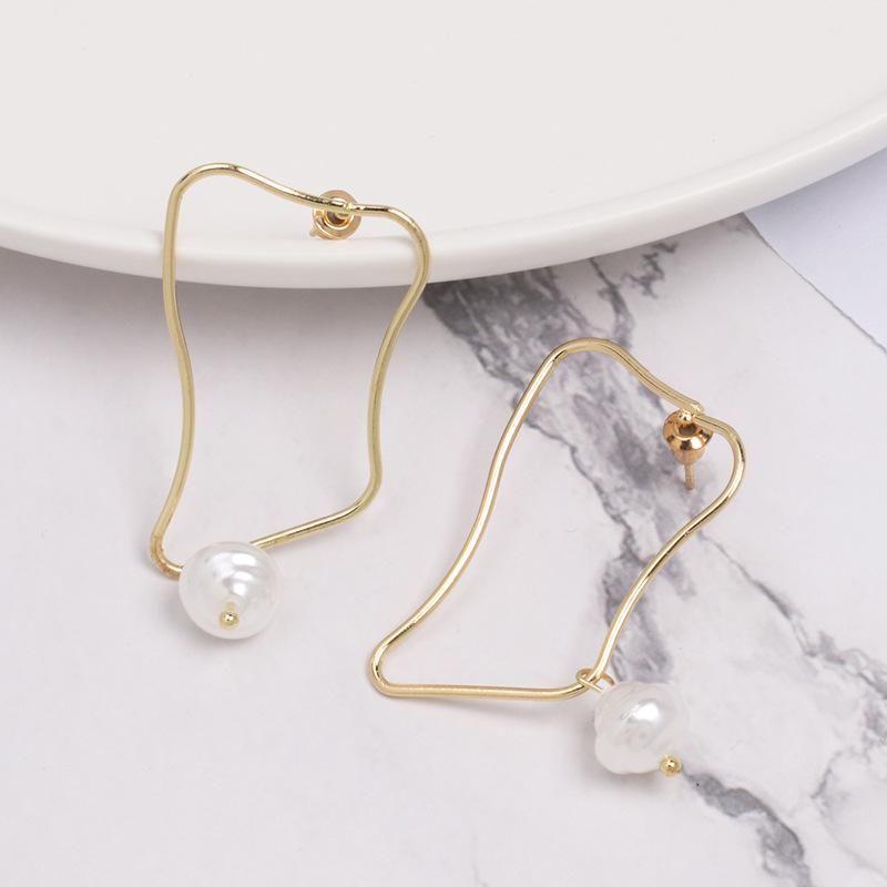 Womens Retro wind tassel Shell and Beads Alloy Earrings NHJJ121606