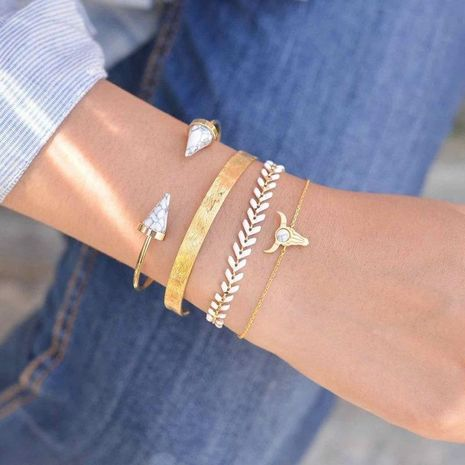 Womens Heart Plating Alloy Bracelet NHGY121617's discount tags