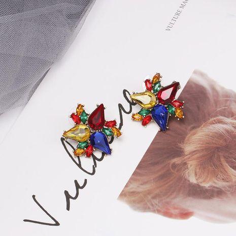 Womens Star Rhinestone Elegant temperament Alloy Earrings NHJJ121623's discount tags