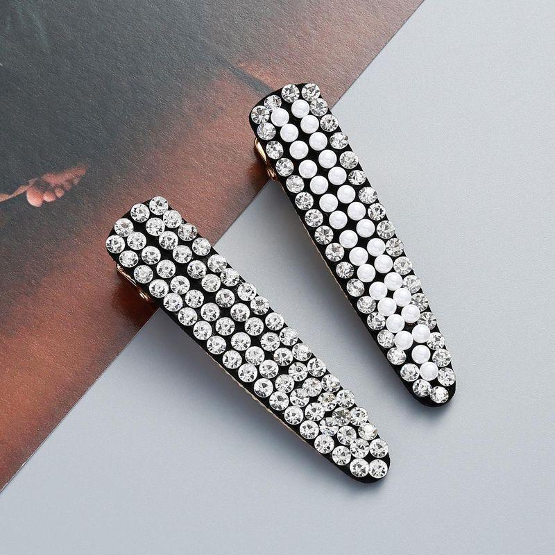 Fashion Acrylic Rhinestone and Beads Hair Clip NHJE121624