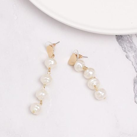 Womens Retro wind tassel Shell and Beads Alloy Earrings NHJJ121625's discount tags