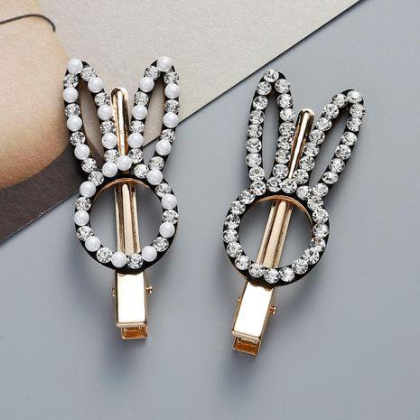 Womens Bunny Rhinestone Acrylic Sweet hair clip NHJE121628's discount tags