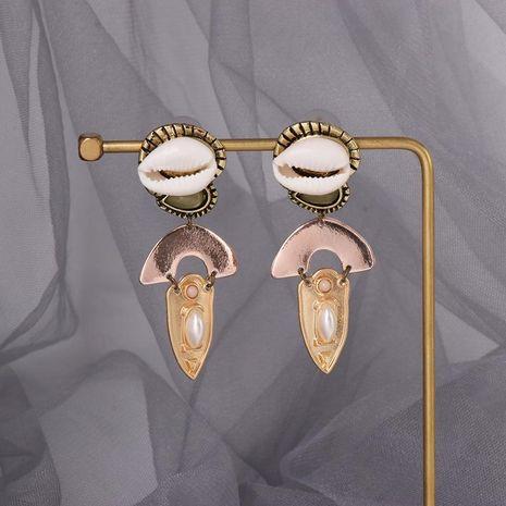 Womens Fashion literary vintage conch shell Geometric Conch Earrings NHJJ121629's discount tags