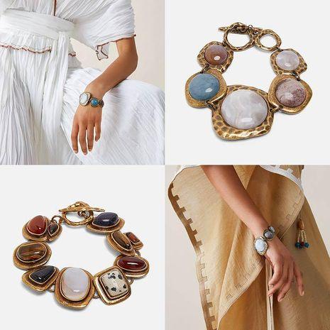 Womens Geometric trend Stone Alloy Bracelet NHJJ121634's discount tags