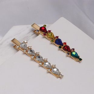 Womens Geometric Rhinestone Alloy Hair clip NHJJ121638's discount tags
