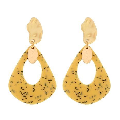 Womens Water Drop Shaped Acrylic Two-Color Series Earrings NHCT121639's discount tags