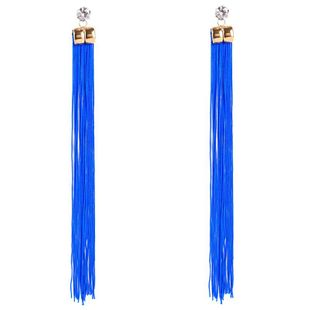 Fashion Geometrical Plating Alloy Studded tassel personality retro  Earrings NHJE121650's discount tags