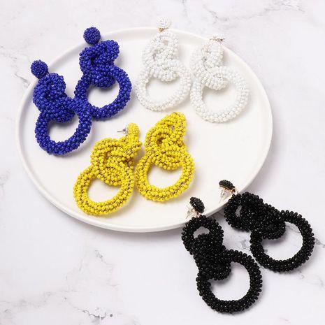 Womens Fashion Geometric Beads Earrings NHJJ121651's discount tags