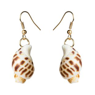 Womens Stylish simplicity Shell Seashell Earrings NHJE121653's discount tags