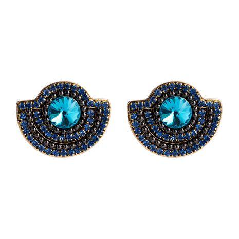 Womens Geometric Fan-shaped multilayer row Rhinestone Alloy Earrings NHJE121654's discount tags