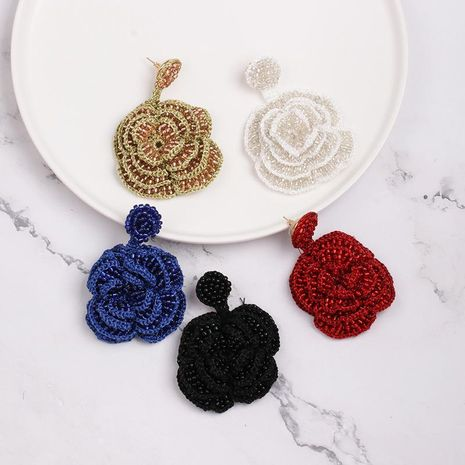 Womens Floral Rice Beads Flower vintage  Earrings NHJJ121660's discount tags