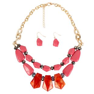 Womens Geometric Exaggerated acrylic double layer wild  Necklaces NHCT121669's discount tags