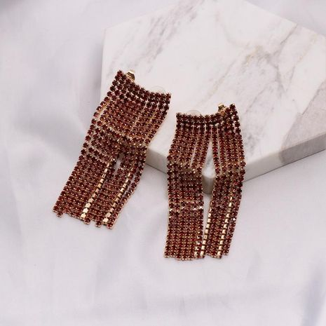 Womens Geometric tassel  Rhinestone Alloy Earrings NHJJ121678's discount tags
