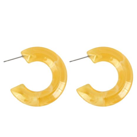Womens Sweet transparent jelly Two-Color Series Earrings NHCT121682's discount tags