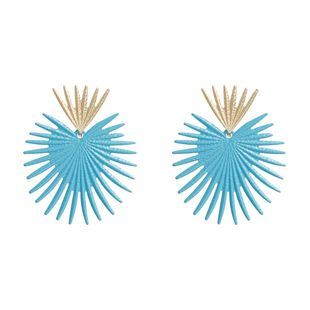 Womens Geometric Temperament coral seaweed  Paint Alloy Earrings NHJE121690's discount tags