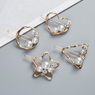 Womens Geometric Beads Alloy Hair clip NHJE121692's discount tags