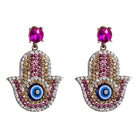 Womens Rhinestone eye  Acrylic Earrings NHJE121693's discount tags