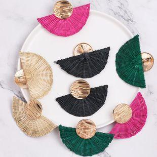 Womens Geometric Retro fan weaving Beads Earrings NHJJ121696's discount tags