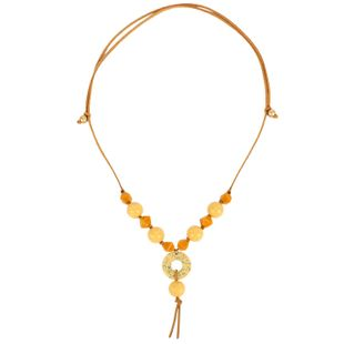 Womens teardrop plastic tassel Necklaces NHCT121698's discount tags