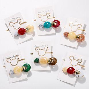 Womens Fashion  Cartoon Character Plating Alloy gemstone beads hair clip NHJQ121708's discount tags