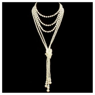 Womens Retro classic Beads Necklaces NHCT121712's discount tags