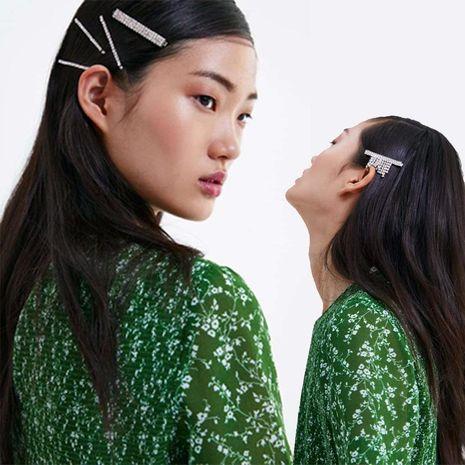 Womens Geometric Rhinestone Alloy Flash drill tassel hair clip NHJJ121723's discount tags