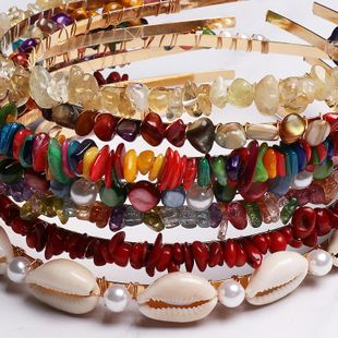 Womens  Resin Cute candy color small stone hair hoop NHJJ121725's discount tags