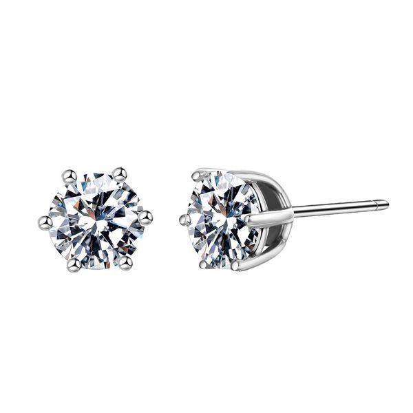Womens Geometric Rhinestone S925 Alloy Earrings NHJJ121726