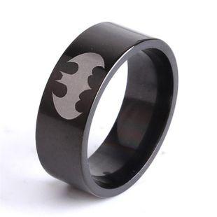 Fashion Batman  Black batman Titanium Steel Rings NHIM121728's discount tags
