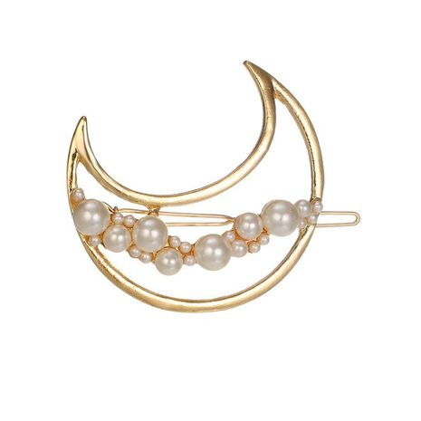 Womens Fashion moon stars love triangle Beads Plating Alloy Hair clip  NHGY121729's discount tags