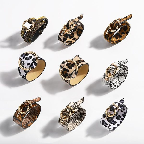 Womens Snake skin leopard Leather Bracelet NHJQ121733