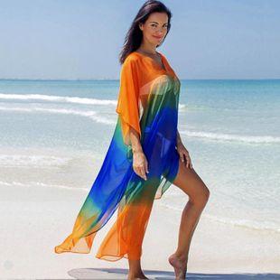 Chiffon gradient seaside holiday dress sunscreen female beach coat NHXW121768's discount tags