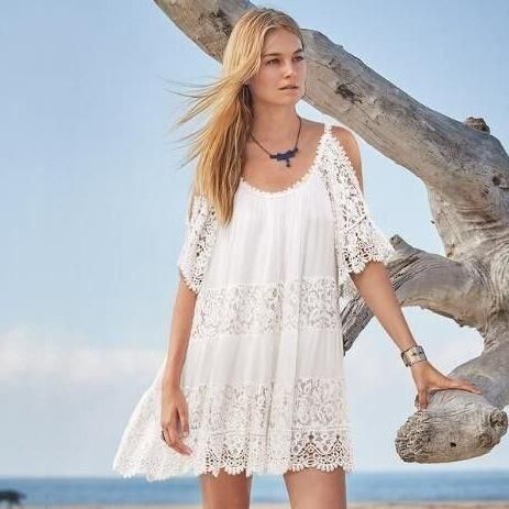 Sling lace open beach blouse NHXW121770