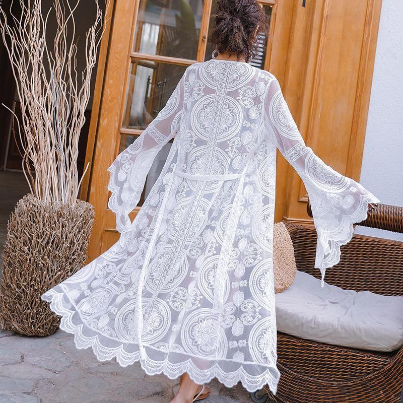 Fashionable loose beach coat blouse NHXW121773