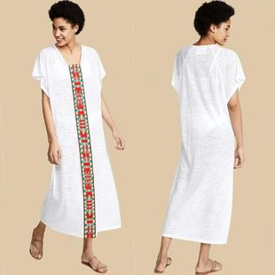 Large size holiday dress long skirt swimwear outside blouse NHXW121781's discount tags