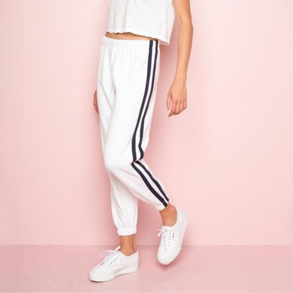 Fashion new side stitching pants NHDS121944