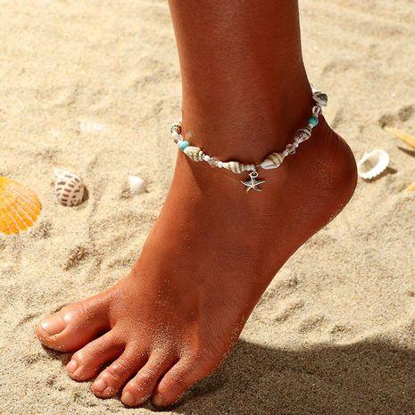 Concha de concha de concha de estrella de mar para mujer pulsera de tobillo NHNZ121978's discount tags