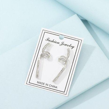 Pendientes de Aleación de líneas geométricas para mujer con diamantes. NHNZ121991's discount tags