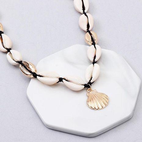 Shell de la mujer que platea los collares de la aleación NHNZ122009's discount tags