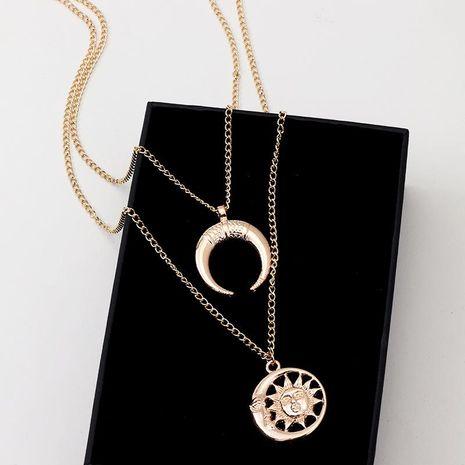 Collares de aleación de galvanoplastia Sun Moon para mujer NHNZ122015's discount tags