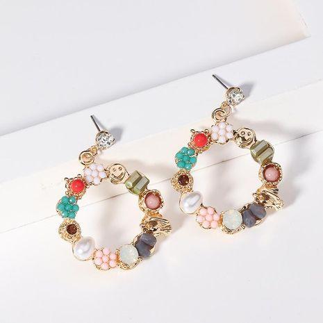 Pendientes de aleación de chapado de flor de círculo de mujer NHNZ122043's discount tags