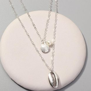 Womens Shell Scallop Alloy Necklaces NHNZ122051's discount tags