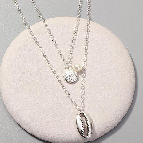 Collares de aleación de concha de vieira para mujer NHNZ122051's discount tags
