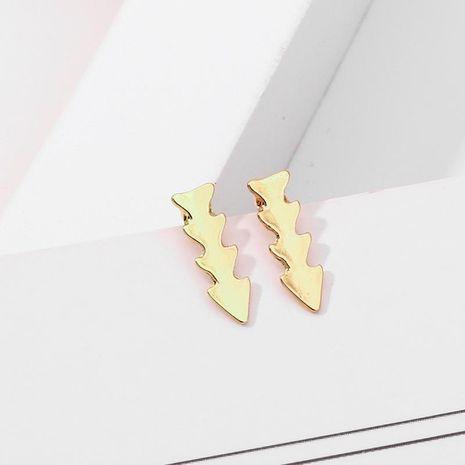Pendientes de aleación de chapado simple e irregular para mujer NHNZ122067's discount tags