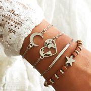 Bracelet en alliage lune pour femmes Love Map NHNZ122068