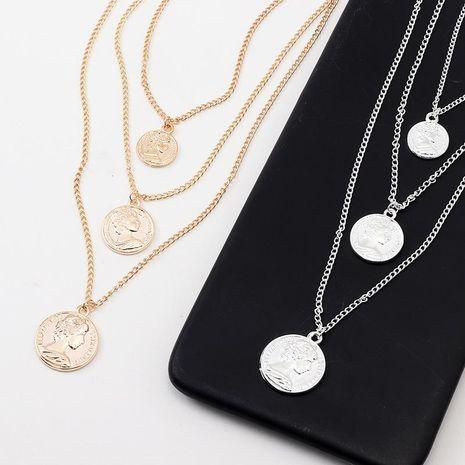 Collares de aleación de chapado de retrato de mujer NHNZ122087's discount tags