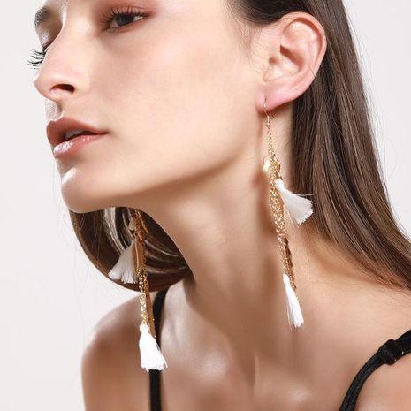 Chapado de borla de mujer Pendientes de aleación de oro de las hojas NHNZ122088's discount tags