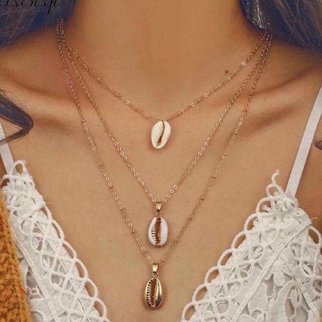 Collares de aleación de múltiples capas para mujer. NHNZ122091's discount tags
