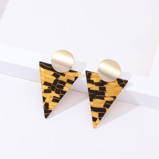 Womens Triangle Acetate Sheet Earrings NHNZ122092's discount tags